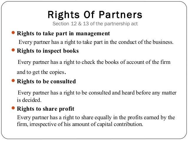 authority of partners