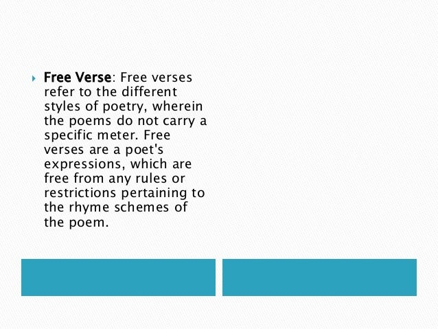 Kinds Of Poetry With Examples