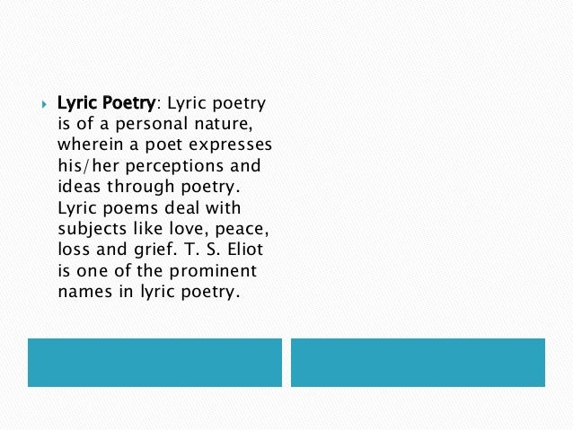 Examples of Lyric Poetry