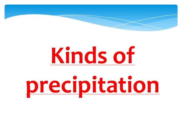 Kinds ofprecipitation