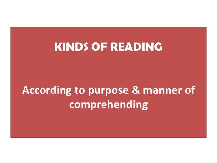 Kinds of reading Slide 2