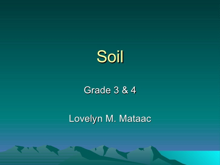 Soil Types & Layers - Lessons - Tes Teach