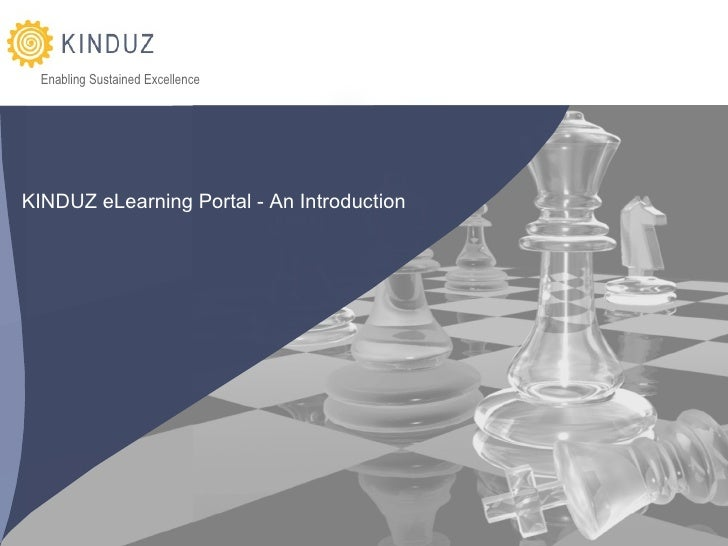 KINDUZ eLearning Porta l - An Introduction