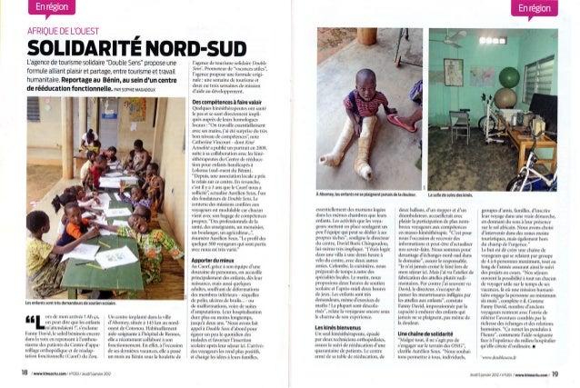 Parution Double Sens dans le magazine Kiné Actualité - Janvier 2012