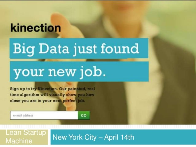 Lean Startup             New York City – April 14thMachine
