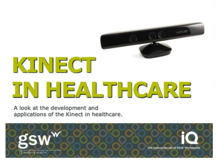KINECTIN HEALTHCAREA look at the development andapplications of the Kinect in healthcare.