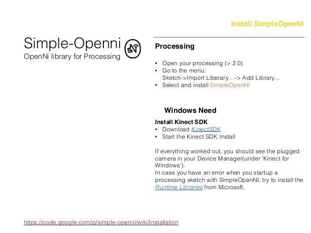 Kinect v1+Processing workshot fabcafe_taipei
