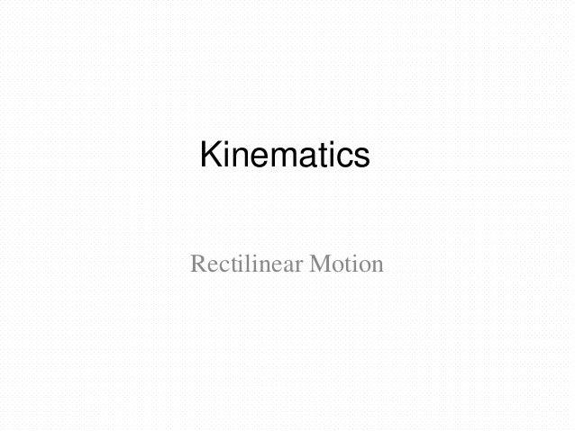 Kinematics(class)