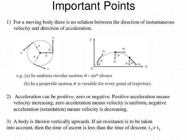 uniform acceleration the relationship between angle of inclination and