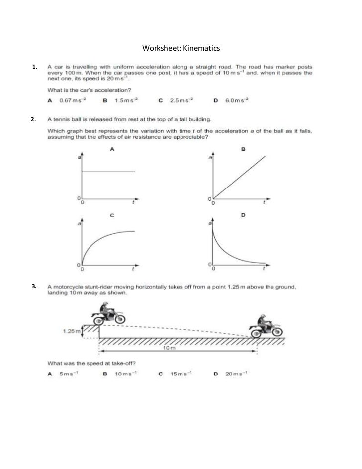 Kinematics Worksheet Free Worksheets Library – Kinematics Worksheet
