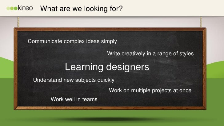 Kineo Learning Designer Graduate Scheme Slide 2