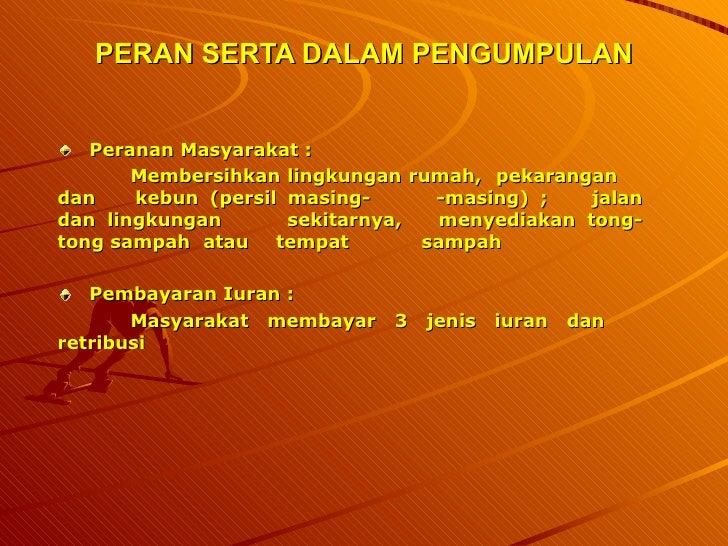 Kinerja Pengelolaan Persampahan Kota Semarang 2006