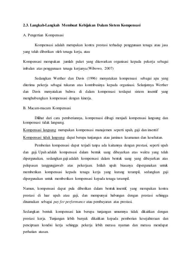 Pengertian Kompensasi, dan Serba-serbi yang Dimilikinya - JojoBlog
