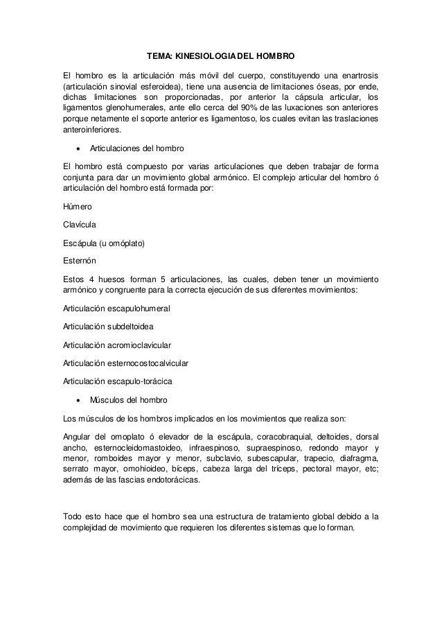 Kinesiologia del hombro (1)