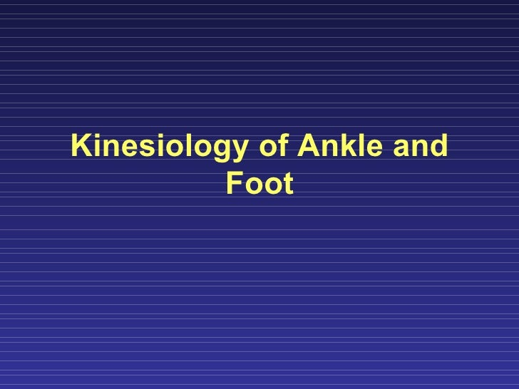 Kinesiology of Ankle and Foot