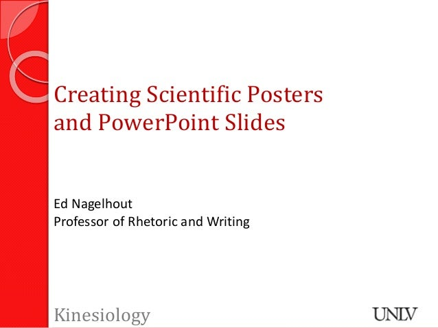 Creating Scientific Posters and PPT Slides