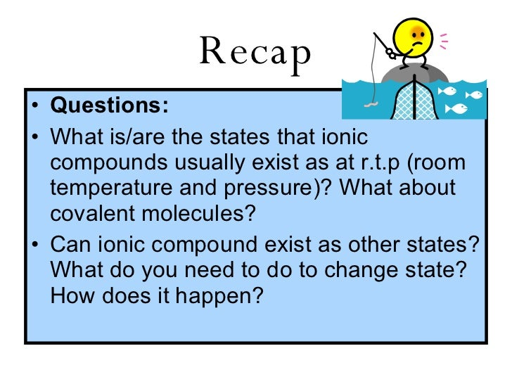 Which Compounds Exist At Room Temperature