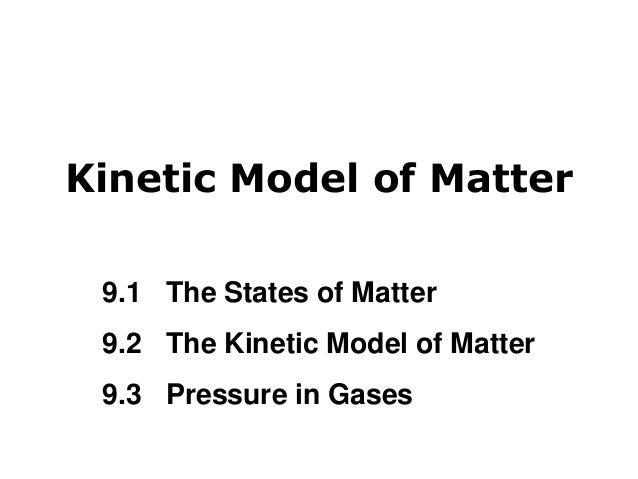 Kinetic model of matter!