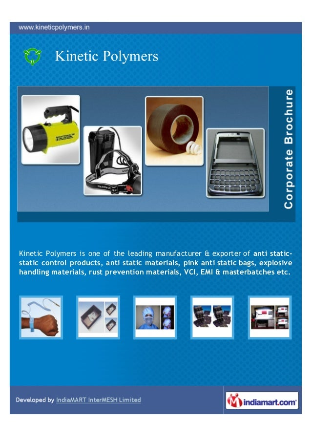 Kinetic Polymers is one of the leading manufacturer & exporter of anti static-static control products, anti static materia...