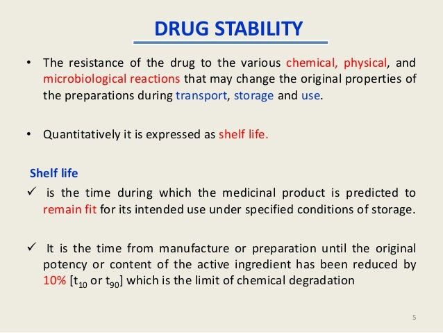 Shelf life stability fdating