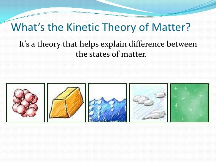 Kinetic theory of matter for What is the difference between space and place