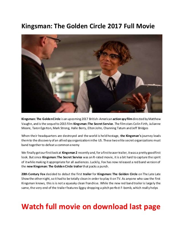 Kingsman The Golden Circle Full Movie Free Download