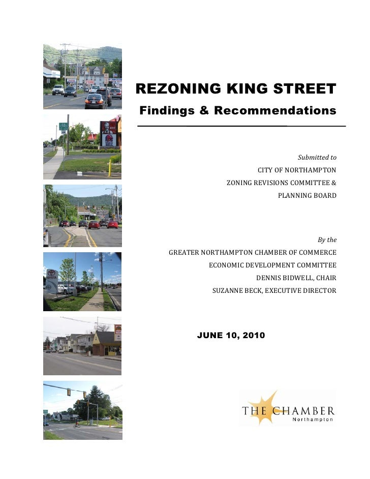 REZONING KING STREET Findings & Recommendations                                      Submitted to                         ...