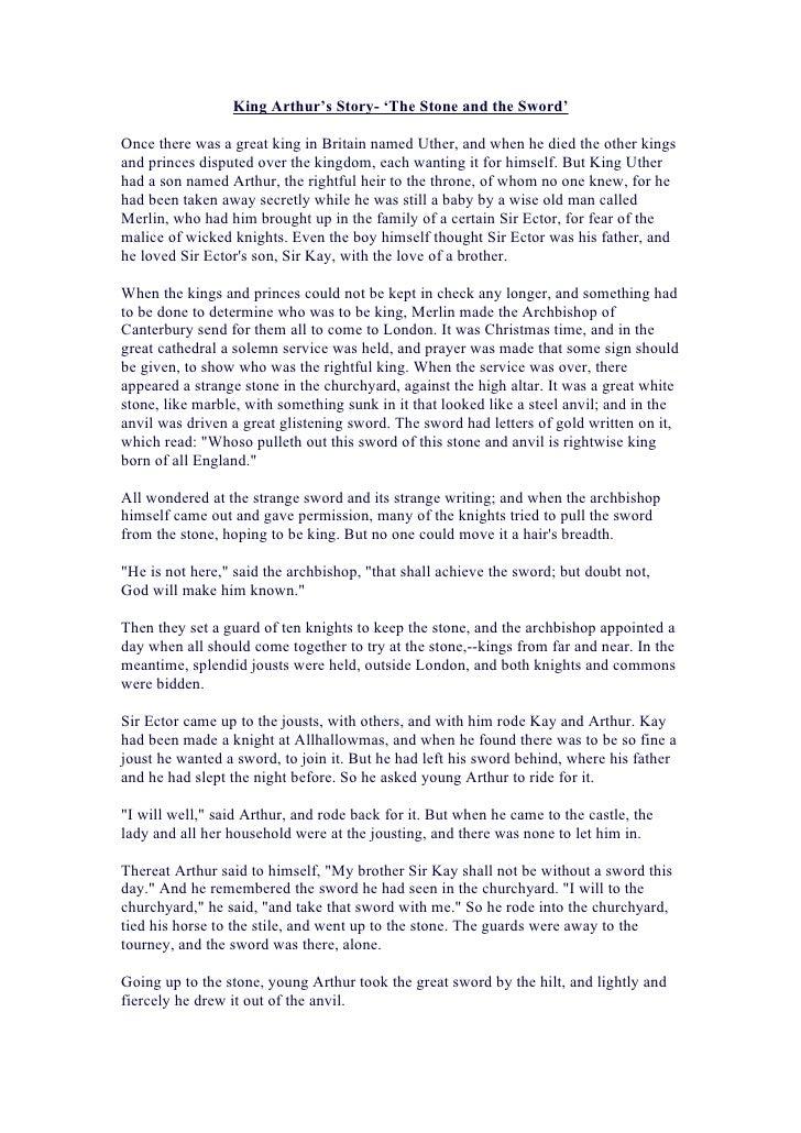 King arthur's story