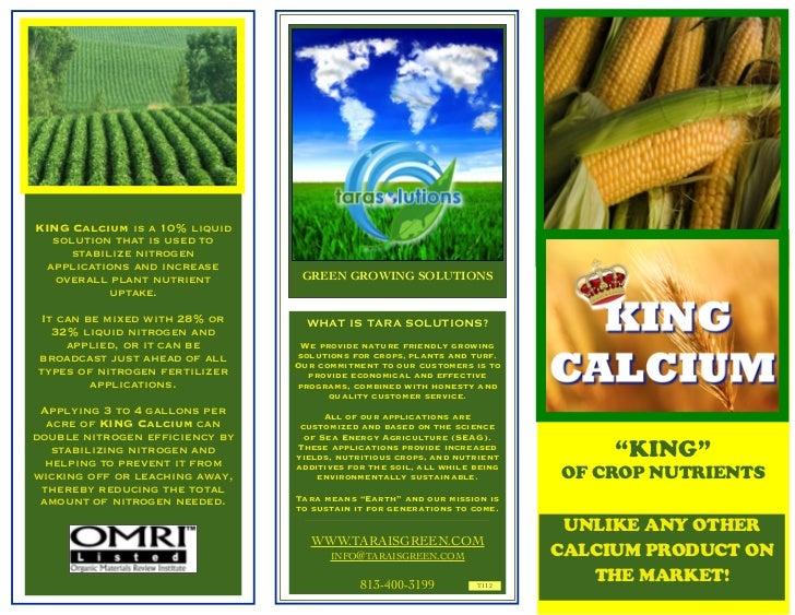 king calcium 3 panel brochure email