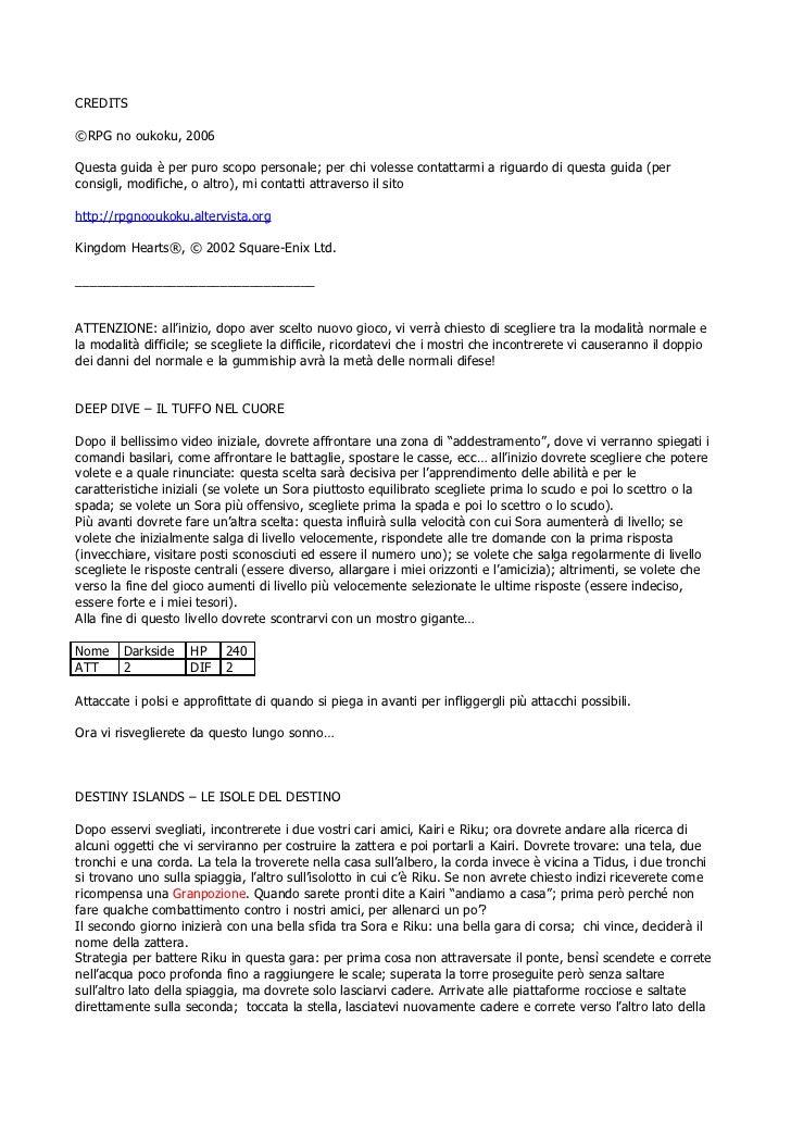 CREDITS©RPG no oukoku, 2006Questa guida è per puro scopo personale; per chi volesse contattarmi a riguardo di questa guida...