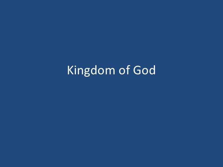 Kingdom of God<br />