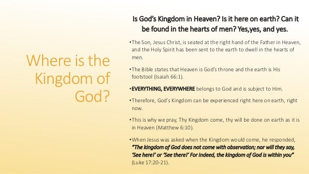 Life in the Kingdom of God - United Faith Church Articles