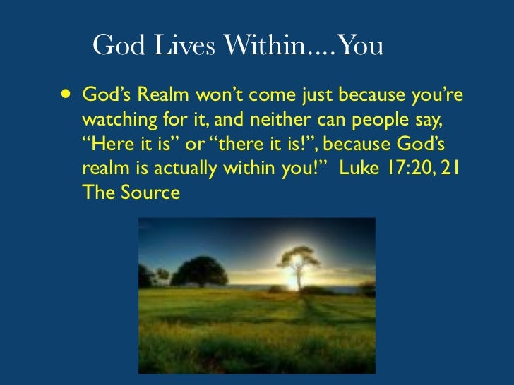 Kingdom of God is Within