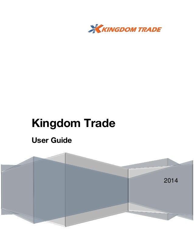 Kingdom Trade User Guide  2014