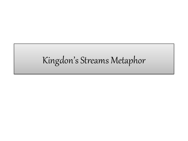 Kingdon's Streams Metaphor