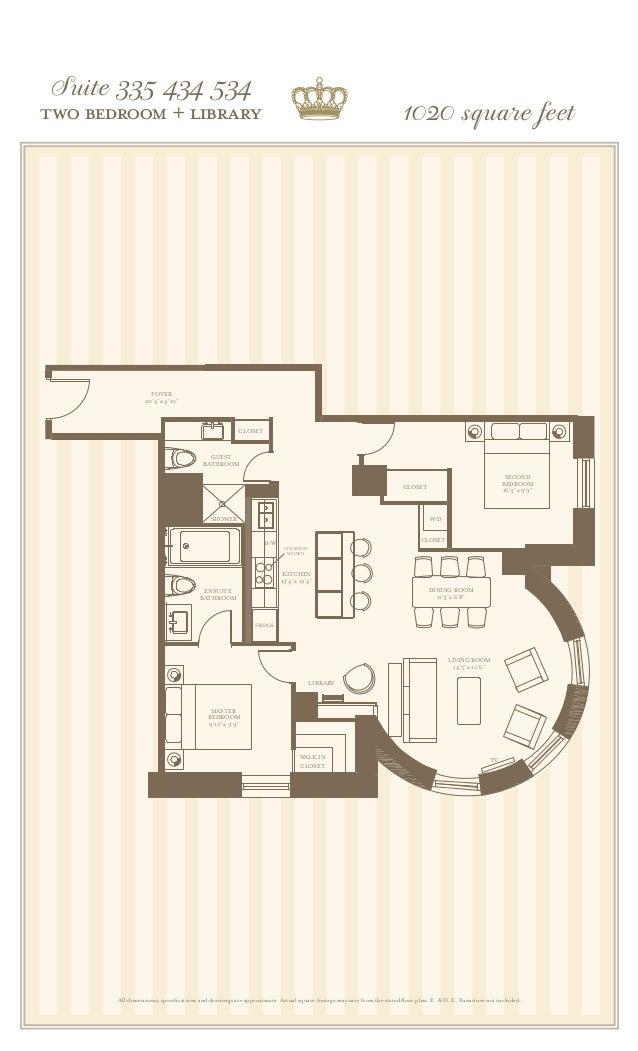 The king edward private residences for 10 x 11 room square feet