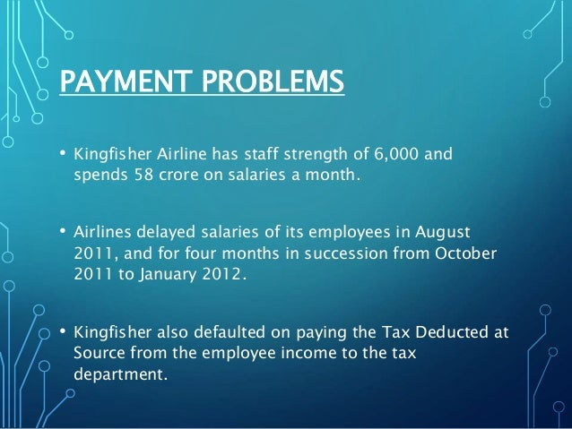 kingfisher airlines financial crisis Reasons for the downfall of kingfisher airlines started when they acquired air deccan for the purpose of expansion to get international routes.