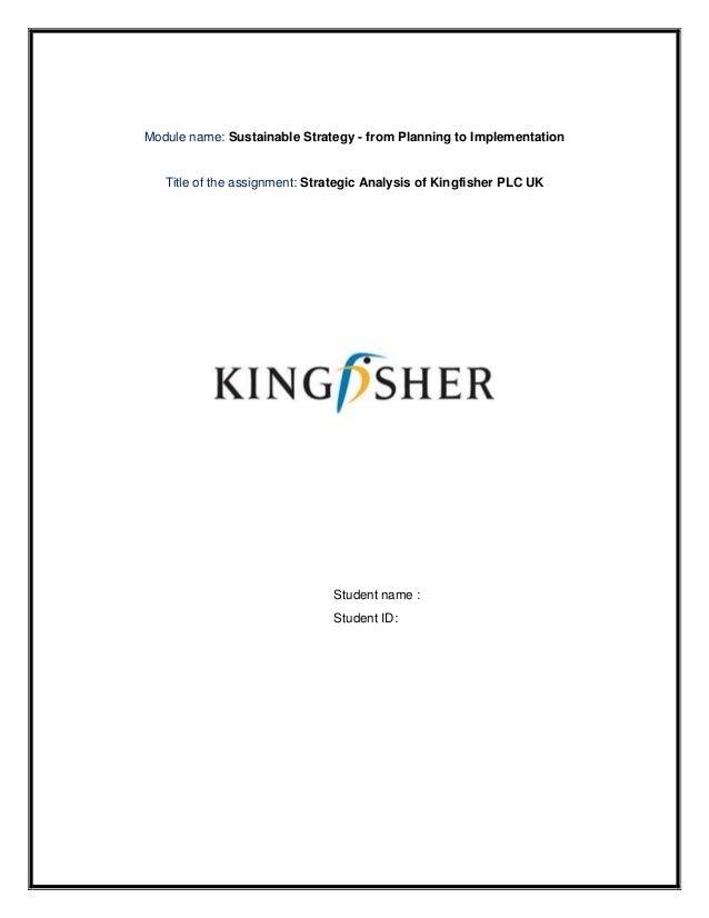 Kingfisher, PLC SWOT Analysis
