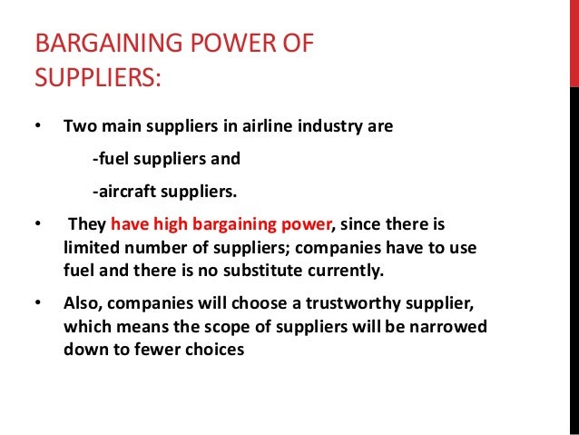 suppliers bargaining power in radio industry