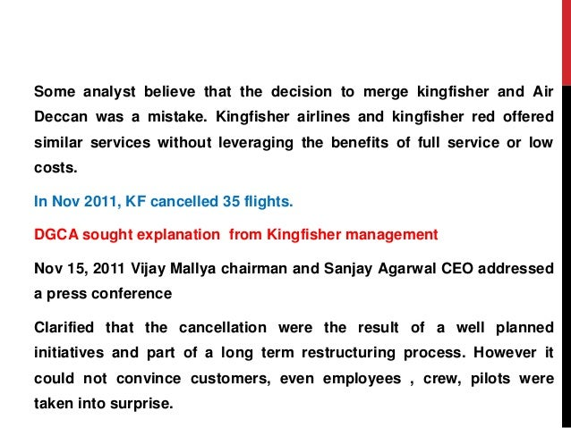 case study on kingfisher airlines In 2012, kingfisher airlines, one of india's major airlines, ceased  spicejet is a  case study in the lessons realized from kingfisher in many.