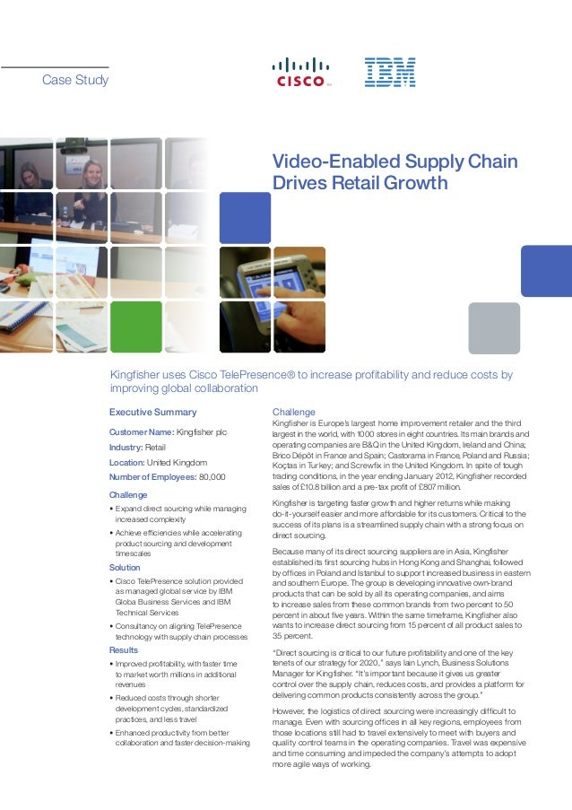 Case Study                                                       Video-Enabled Supply Chain                               ...
