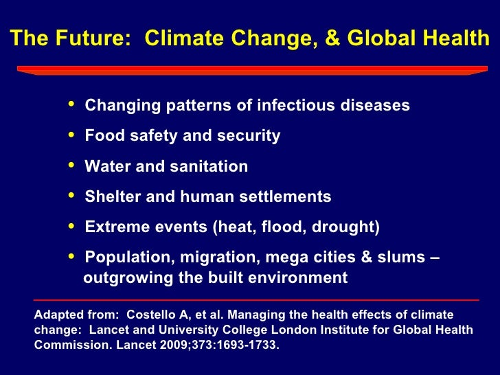 affect of climate change on migratory