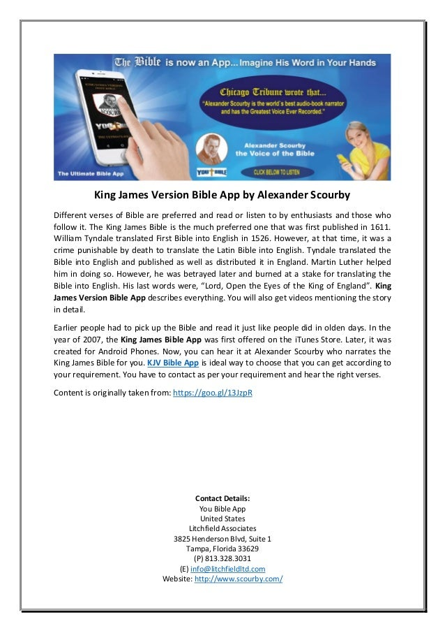 King James Version Bible App By Alexander Scourby