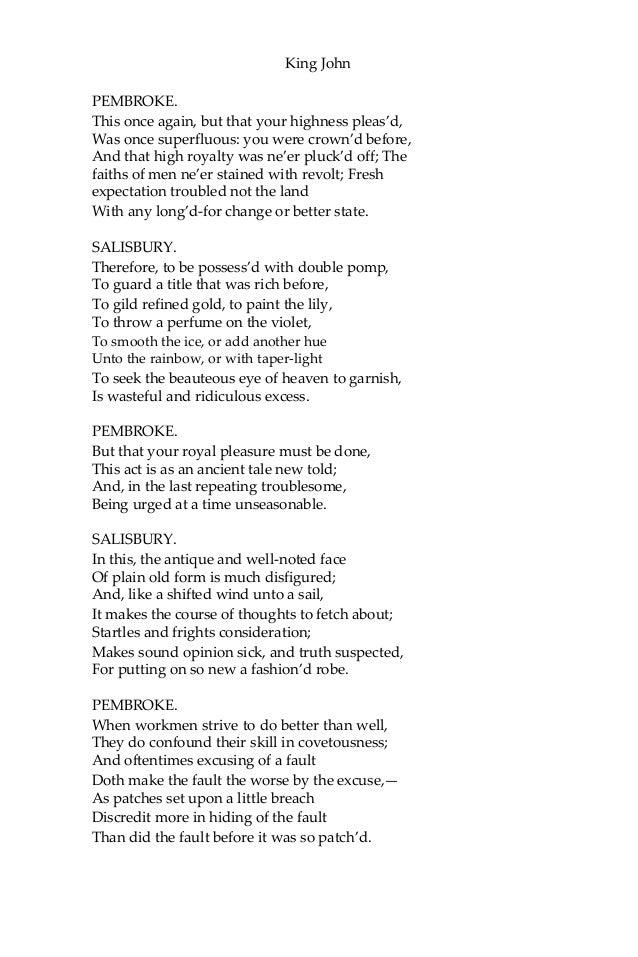 King john - william shakespeare