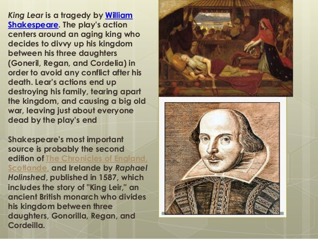 a play analysis of king lear by william shakespeare Get an answer for 'what is the overall message conveyed by the play king lear' and find homework help for other king lear king lear summary king lear quotes king lear quiz william shakespeare biography enotescom will help you with any book or any question our summaries and.