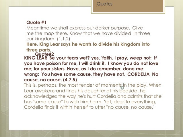 king lear gloucester quotes