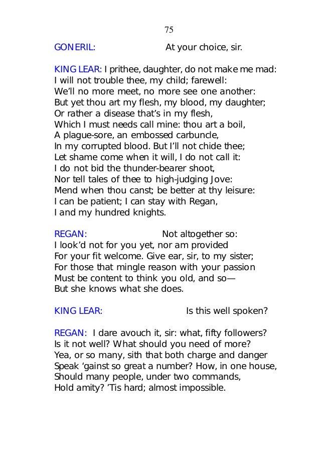 argumentative essay king lear