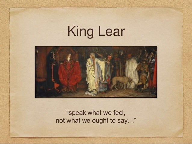 dramatic techniques in king lear