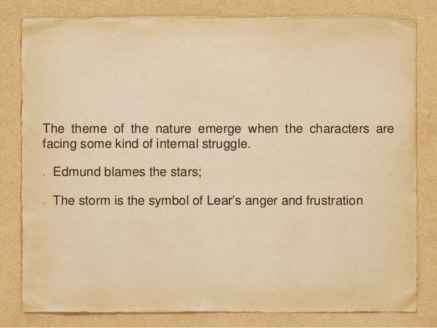 theme of nature in king lear
