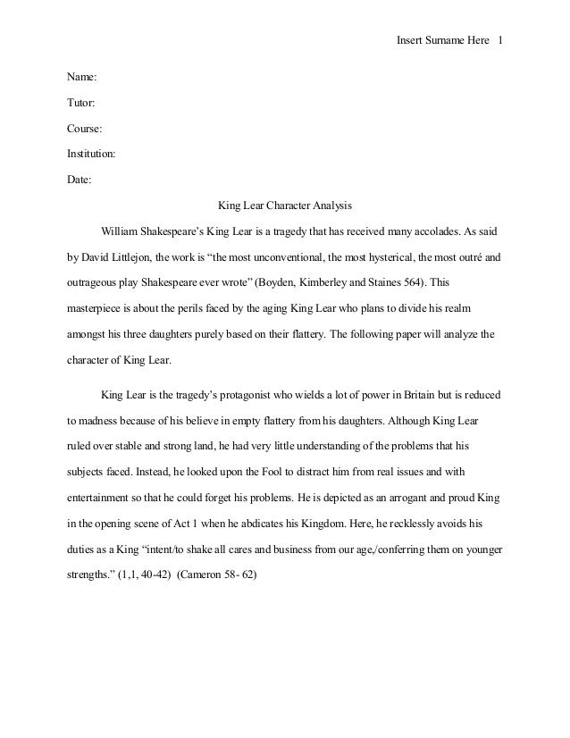 king lear analysis The soliloquies from king lear below are extracts from the full modern english king lear ebook, and should help you to understand the main king lear soliloquys.